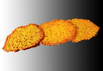 Three Cheese Crisps with Browned Edges