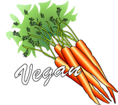 Vegan diet with carrots.