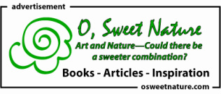O, Sweet Nature website ad. Art and nature--could there be a sweeter combination?