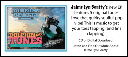 CD of the music of Jaime Lyn Beatty, Dolphin Safe Tunes