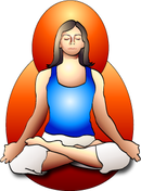 Illustration of a woman sitting in meditation.